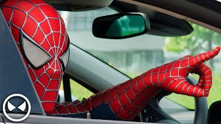 SPIDER-MAN Attacks Opel Dealer! - Cars are for Humans