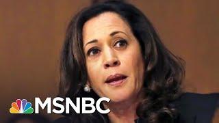 Sen. Kamala Harris Reacts To Scolding By GOP Senators   The 11th Hour   MSNBC