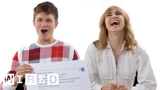 Ansel Elgort & Suki Waterhouse Answer the Web