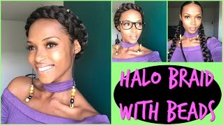 Easy Halo braid with Beads