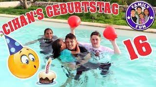 CIHANS 16. GEBURTSTAG - ÜBERRASCHUNG & POOLPARTY im Urlaub | Family Fun