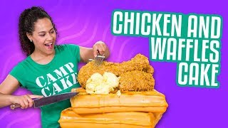 Chicken And Waffles CAKE!!   How To Cake It