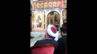 تلاوة رائعة  للشيخ ياسر حسين في الكنيسة