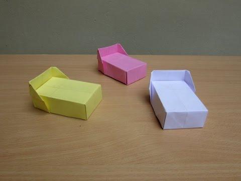 Оригами кровать видео из бумаги