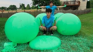 WE MADE SLIME WUBBLE BUBBLES?! (THIS GOT MESSY)