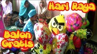 Selamat Hari Raya Idul Fitri - Balon Karakter Mainan Anak-anak Suasana Lebaran di Kedaton