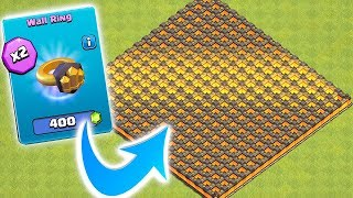 HOW MANY RINGS TO UPGRADE ALL 300!?!   Clash of clans   New update!