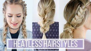 3 Days of Heatless Hairstyles Hair Tutorial