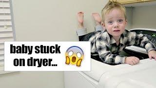 Baby Stuck on Dryer...   Twist Me Pretty