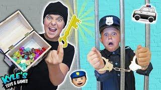 🚓 KID COP VS ROBBERS STEAL A MILLION DOLLAR TREASURE!