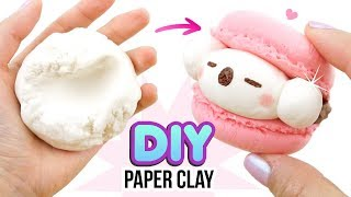 DIY PAPER CLAY!!! Comparing DIY Clay with Store Brands! DIY Koala Macaron Tutorial