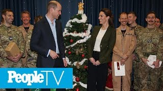 Kate Middleton & Prince William Celebrate Military Families With Sweet Christmas Party | PeopleTV