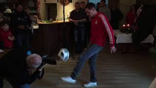 Sebastian Rudy beim FC-Bayern-Fanclub in Petting 2