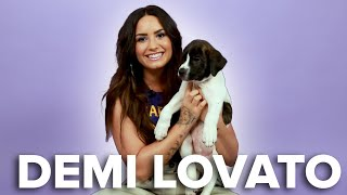 Demi Lovato Plays With Puppies (While Answering Fan Questions)