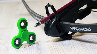 EXPERIMENT Crossbow VS  Fidget Spinner