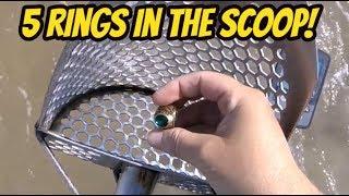 Beach Metal Detecting | 5 Rings In The Scoop with Equinox 800