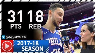 Ben Simmons NEW Career-HIGH Full Highlights vs Wizards (2017.11.29) - 31 Pts, 18 Reb!