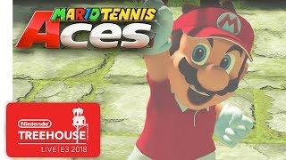 Mario Tennis Aces Gameplay Pt. 1 - Nintendo Treehouse: Live   E3 2018