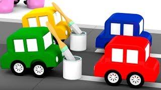 Lehrreicher Zeichentrickfilm - Die 4 kleinen Autos - Wir reparieren die Straße