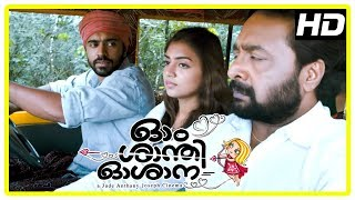 Ohm Shanthi Oshaana Movie Scenes | Nivin Pauly gives lift to Nazriya