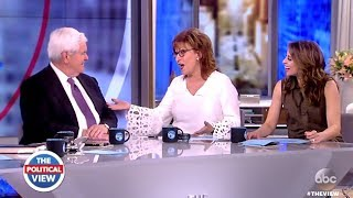 Newt Gingrich Spends Few Uncomfortable Moments On (The VIEW GRILL)