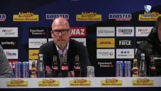 Die Pressekonferenz nach der Partie VfL Bochum 1848 - SpVgg Greuther Fürth