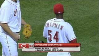 Aroldis Chapman debut en grandes ligas