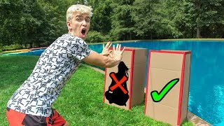 DONT Push the Wrong MYSTERY BOX into the Water! (POND MONSTER)