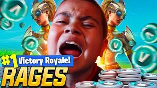 9 year old kid RAGES when he loses an *EXTREME* Wager! DROPPED 25 KILLS! NEW SKIN IS INSANE FORTNITE