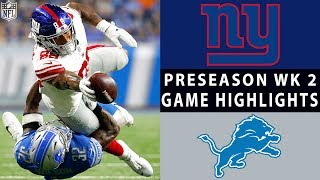 Giants vs. Lions Highlights | NFL 2018 Preseason Week 2