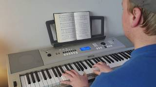 man plays music