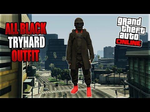 gta 5 online *dope* black n' red modded outfit tutorial