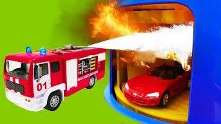 Neue Helfer Autos! Ein Unfall an der Tankstelle. Helper Cars.