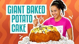 How To Make Your FAVE COMFORT FOOD out of CAKE! GIANT BAKED POTATO | Yolanda Gampp | How To Cake It