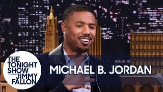 Michael B. Jordan on Push-Ups with Lupita Nyong