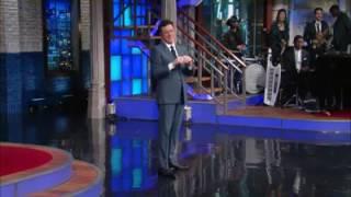 Stephen Colbert meeting his wife