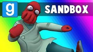 Gmod Sandbox Funny Moments - Ragdoll Fighting Mode! (Garry
