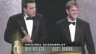 Ben Affleck and Matt Damon Win Original Screenplay: 1997 Oscars
