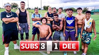MY SUBSCRIBERS BEAT ME AT FOOTBALL..