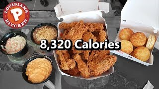 Popeyes 16pc Family Meal Challenge (8,000+ Calories)