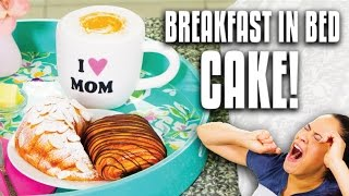 How to Make CAKES that look like Croissants, Fruit Bowl and Cappuccino for Mother's Day Surprise!