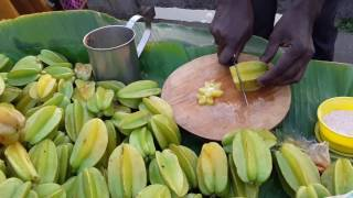 Star Fruits kolkata (Carambola)   Kolkata Street Food-Bengali  Tasty Juicy Fruits-Indian Food