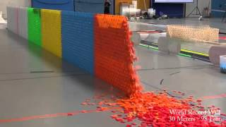 128,000 Dominoes   Falling into past   a journey around the world 2 Guinness World Records)   YouTub