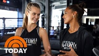 Behind The Scenes With Victoria's Secret Models Jasmine Tookes And Josephine Skriver | TODAY