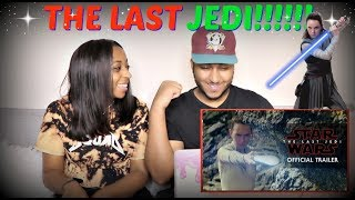 "Star Wars: ""The Last Jedi"" Trailer (Official) REACTION!!!!"