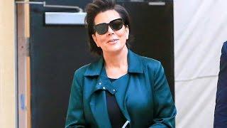 Kris Jenner Rocking A Beautiful Green Jacket At Rob