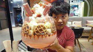 MASSIVE Ice Cream Sundae,  22 SCOOPS!!! in Bangkok Thailand!