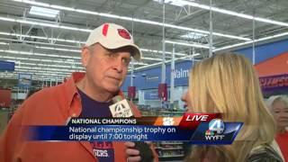 National championship trophy visits Upstate Walmart stores