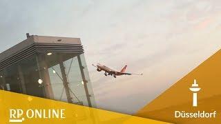 Air-Berlin-Pilot verabschiedet sich mit Manöver vom Flughafen Düsseldorf