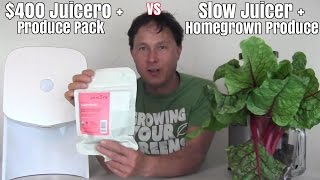 Juicero + Produce Pack vs Juicer + Homegrown Produce - Which is Best ?